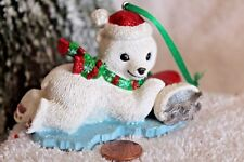 """Danbury Mint """"Polar Bear"""" from The Baby Animal Ornaments Christmas Collection"""