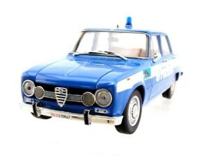 MODELLINO ALFA ROMEO GIULIA SUPER 1600cc POLIZIA 1970 SQUADRA VOLANTE n.67 IN ME