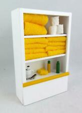 Dolls House Miniature White Bathroom Shelf Unit & Accessories Lemon