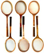 Spalding Salgenzer Magnan Ace Lot of 6 Vintage Wooden Tennis Raquets