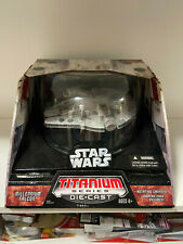 Star Wars Titanium Series Die.cast Milennium Falcon 2006 New
