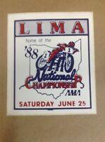 2 Lima Ohio AMA National Championship 1988 Sticker FREE SHIPPING INV-B26