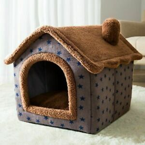 Removable Cat Bed House Kennel Nest Pet Nest Cat Tent Dog Kennel Warm Cushion
