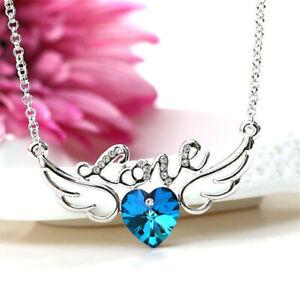 Elegant Women'S Jewelry Angel Wings Charm Silver Pendant Necklace