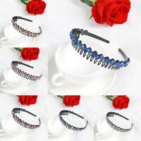 Colorful Women Crystal Rhinestone Hair Hoop Hair Hoop Flower Headband Hairband