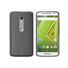 Cover per Motorola Moto X Play e Dual SIM, in silicone TPU trasparente Nero