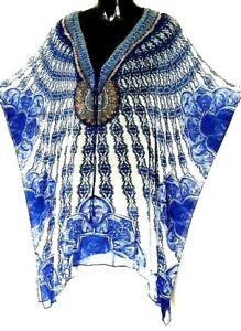 Kaftan/ Crystal Embellished /100% Viscose / Plus / Lace-Up / Last One/ RR$149.95