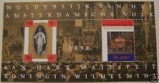 Ned. - Blok 100 jaar Inhuldiging Koningin Wilhelmina + Gouden Koets 1998 postfr.