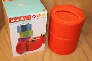 New Aladdin Bento Lunch Box .95L Orange Leak Proof Hot Cold Microwave Safe - NIB