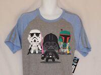 NEW Star Wars Darth Vader Kylo Chibi Figure Short Sleeve T-Shirt Top MEN'S S M L