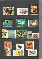 Schmetterlinge Sellos Stamps