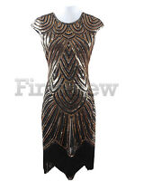 Retro 1920s Flapper Dress Great Gatsby Charleston Sequins Fringe Party Dresses
