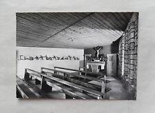 c1965/ 60s B/W Postcard. Interior of New Chapel, Grimsel Passhohe,  Switzerland