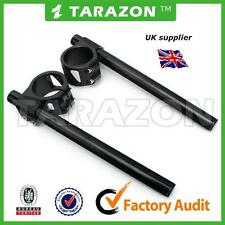 Tarazon 41mm clip on handlebars.BLACK, billet aluminium alloy  cafe racer.