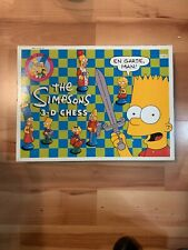The Simpsons 3D Chess Set Vintage Complete Set Rare Collectible Retro Board Game