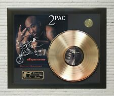 """2Pac Framed wood Reproduction Signature LP Record Display. """"M4"""""""