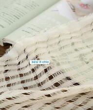 Shabby Chic Semi-Sheer Loomstate Creative Cotton Scrim Fabric Art Clothing FQ