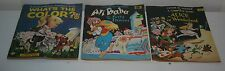 3 Vintage Color by Number Books Alice In Wonderland Ali Baba What's The Color