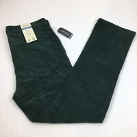 NEW Men's Nautica Corduroy Pants Straight Leg Stretch Fit Green