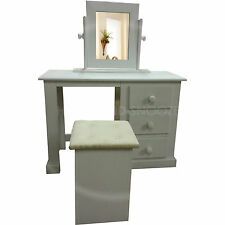 HAND MADE DEWSBURY FURNITURE DRESSING TABLE SET WHITE(ASSEMBLED)