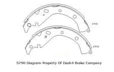 Drum Brake Shoe-AWD Rear Dash 4 Brake B790