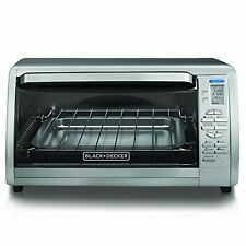 Black and Decker Stainless Steel Countertop Convection Oven Bake Broil Toast New
