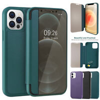 For iPhone 12 Pro Max/mini/12 360 Case Smart View Leather Slim Shockproof Cover