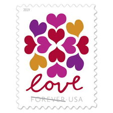 200 LOVE HEARTS BLOSSOM USPS FOREVER STAMPS 10 Sheets of 20