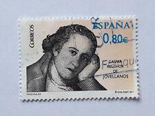 SELLO USADO EN EUROS GASPAR MELCHOR DE JOVELLANOS. AÑO 2011.