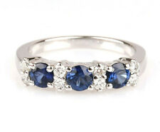 White Gold Ring 18 CT With Sapphires and Diamonds GIOIELLERIA AMADIO