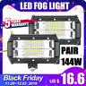 """2x 5""""INCH LED Work Light Bar Flood Pods Driving Fit Offroad Tractor SUV ATV HOT~"""