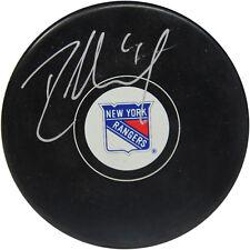 Rick Nash Signed New York Rangers Puck Silver Autograph Steiner COA Hologram