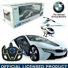 1:14 Speed Twins BMW i8 Car & Helicopter Radio Remote Control Controlled RC Toy