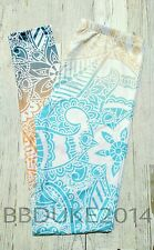Mandala Leggings Buttery Soft Cream Blue Unicorn One Size Wmn 2-10 NEW