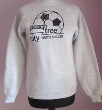 VTG Youths HANES PEACH TREE Grey Crew Neck Polycotton Sweatshirt Age 14-16