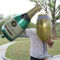 2pcs Foil Balloons Champagne Bottle Wedding Birthday Christmas Party Decor Gifts