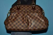 LOUIS VUITTON Damier Ebene TREVI Leather & Canvas Satchel Purse Bag FRANCE