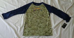 Boys Nike NFL Los Angeles Chargers Veteran Dri-Fit L/S Top Size XL 18/20