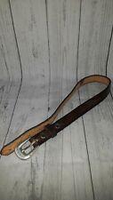 "Girls Custom Hand Tooled Leather Belt Kaylee Name Horse South Western Size 29.5"""