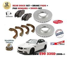 POUR BMW 335D E90 06-> DISQUE DE FREIN ARRIÈRE ENSEMBLE + PLAQUETTES + BLOC