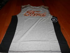 Ford Real Tree Camo GRAY Tee Mens Official Licensed T shirt REALTREE XL Tank TOP