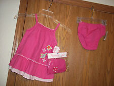 Nannette Girls Size 18 Months Pink Dress Bloomers Hat New With Tags