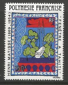 FRENCH POLYNESIA 1980  150F 50th ANNIV OF HENRI MATISSE TO HAITI, S.G 320 MNH**