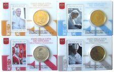 4 x Vatikan 2015 Stamp & Coin No.6,7,8 und 9 mit 50 Cent Münze und 95 Cent Marke