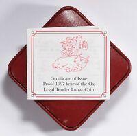 Isle of Man 1997 Silver Crown Lunar Series Year of the Ox OGP Original Packaging