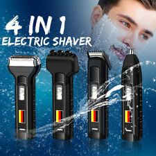 4 in 1 Men's Rechargeable Shaving Razor Beard Hair Trimmer Bald Electric Shaver