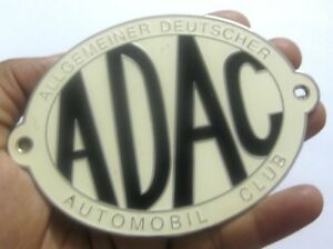 ADAC ALLGEMEINER DEUTSCHET AUTOMOBILE CLUB CAR GRILL BADGE EMBLEM METAL ENAMLED