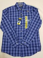 POLO CHAPS Ralph Lauren NEW- Long Sleeve Blue Plaid-Dress Shirt-Sz M