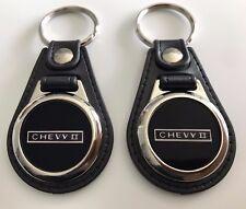 CHEVY NOVA ll keychain set 2 pack fobs black
