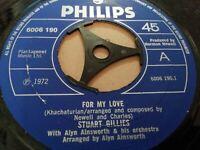 "STUART GILLIES * FOR MY LOVE * 7"" SINGLE EXCELLENT 1972"
